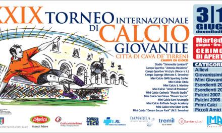"""Torneo Internazionale """"Città di Cava de' Tirreni"""": oggi la conferenza stampa di presentazione"""