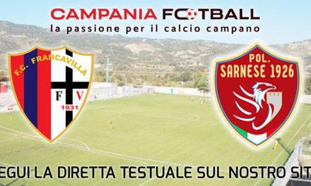 LIVE | Serie D Girone H: Francavilla – Sarnese