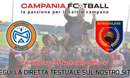 LIVE | Play Off Nazionali, Bitonto – Afragolese: segui la diretta