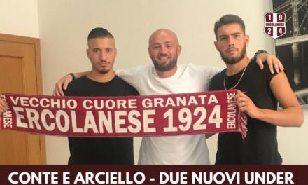 Ercolanese, ecco altri due under: firma ex Primavera Benevento e Arciello