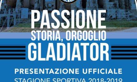 Eccellenza, il Gladiator stasera si presenta ai tifosi