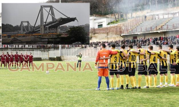 Crollo ponte Morandi, minuto di silenzio su tutti i campi