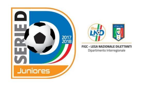 Serie D, Campionato Juniores: nel girone L, finiscono tutte le campane