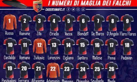 Serie C, Casertana ufficiali i numeri di maglia: Castaldo indosserà la numero 10