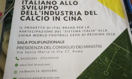 Come contribuisce l'Italia per lo sviluppo del Calcio in Cina?