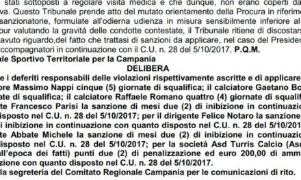 Serie D, Turris che batosta: arriva la penalizzazione per il club corallino