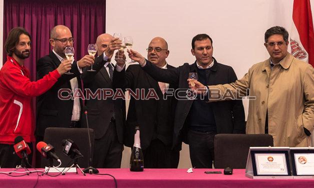 FOTO | Nocerina, conferenza stampa Maiorino: sfoglia la gallery di Villani e Stile