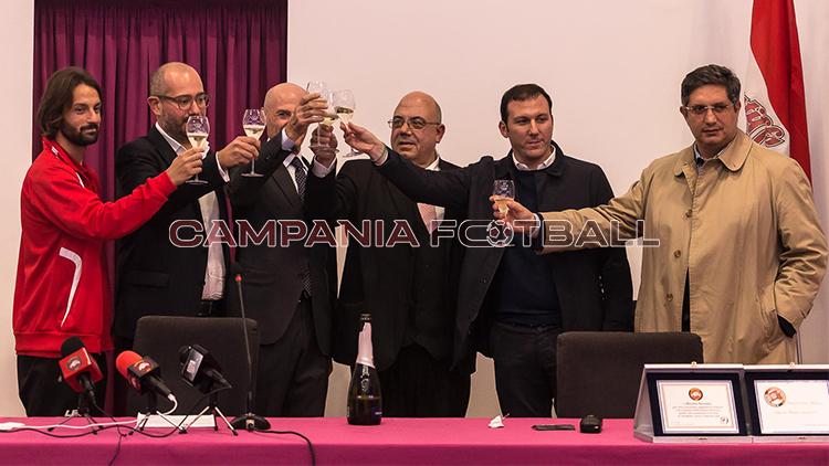 FOTO   Nocerina, conferenza stampa Maiorino: sfoglia la gallery di Villani e Stile