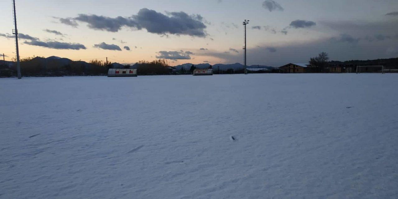 La neve blocca i campionati, rinviata anche Virtus Goti-Forza e Coraggio
