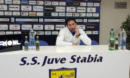 """Juve Stabia – Catanzaro, Caserta nel post-gara: """"Quello che stanno facendo i ragazzi è solo quello che bisogna far vedere alla gente"""""""