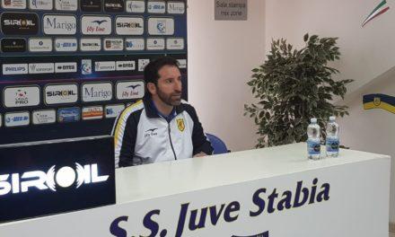 """Post-gara Juve Stabia – Trapani, Caserta: """"la squadra e il pubblico sono stati eccezionali"""""""