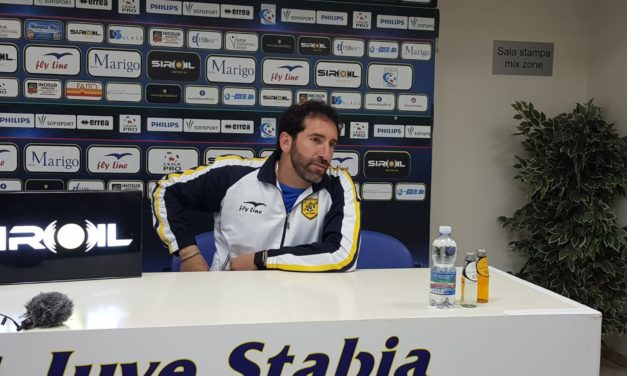 """Fabio Caserta nel post gara di Juve Stabia – Virtus Entella: """"Il pareggio è un risultato che ci sta stretto"""""""