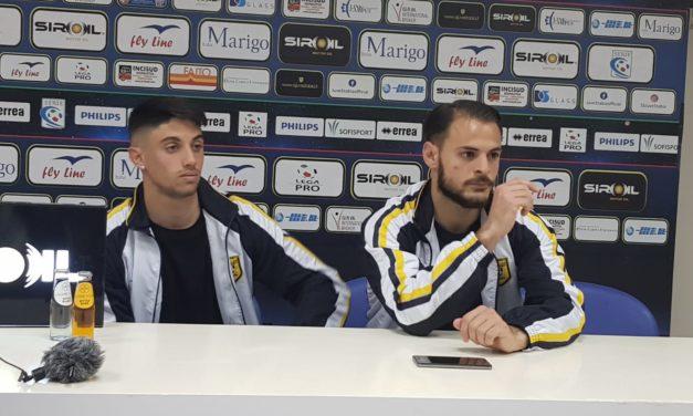 """Post-gara Juve Stabia – Virtus Entella, Canotto e Elia: """"andiamo a Pordenone per conquistare la Supercoppa"""""""