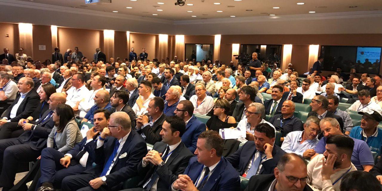 Elezioni FIGC. Il presidente Zigarelli salutato da un pubblico d'eccezione