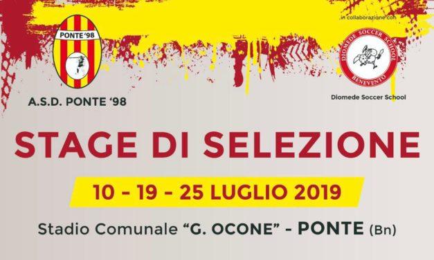 Club Ponte: annunciati Staff e stage di selezione