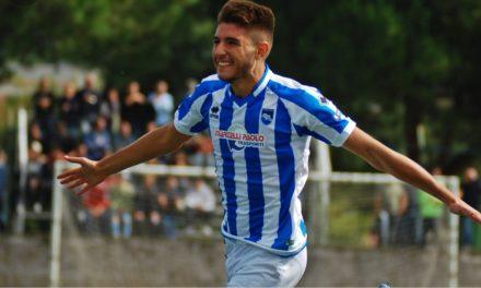 Gennaro Borrelli subito protagonista con il Pescara. La giovane punta in rete con i delfini