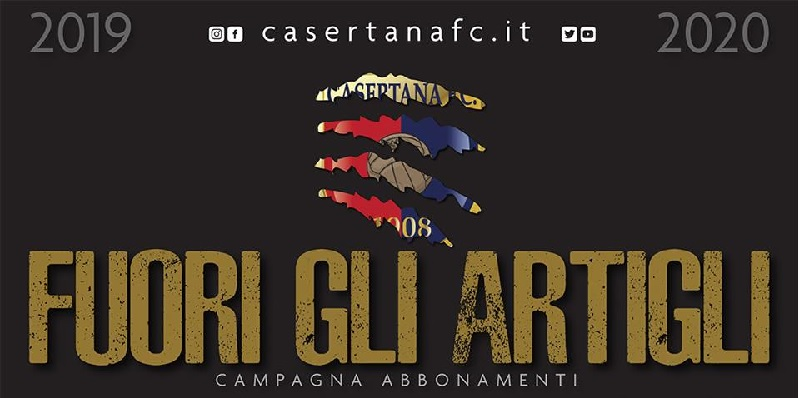 Campagna abbonamenti Casertana. Prezzi popolari e sconti per i vecchi abbonati