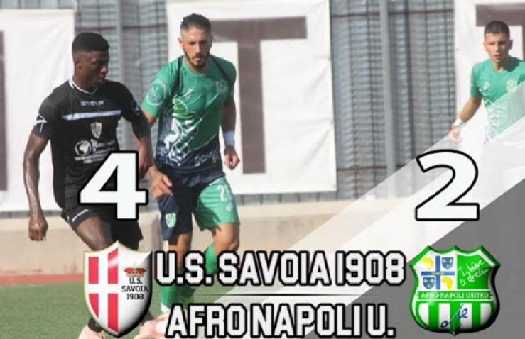 "Goal e spettacolo tra Savoia e AfroNapoli. Al ""Giraud"" termina 4-2 per i bianchi"