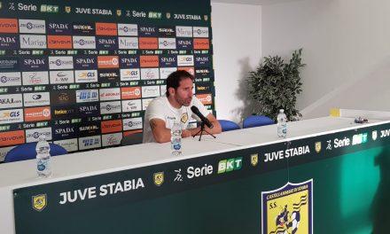 """Post-gara Juve Stabia – Ascoli, Fabio Caserta: """" Dobbiamo accettare le critiche ma continuando a lavorare sodo"""""""